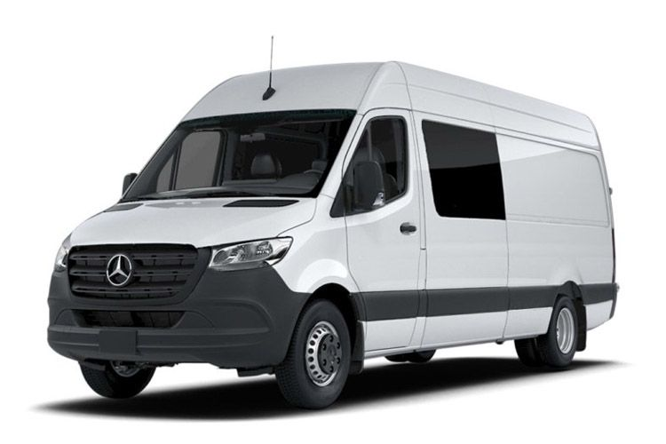 Mercedes-Benz Sprinter HGV 516 L3 5.0t 2.1 CDi DRW 163PS Premium Crew Van ExHighRoof Manual [Start Stop] front view