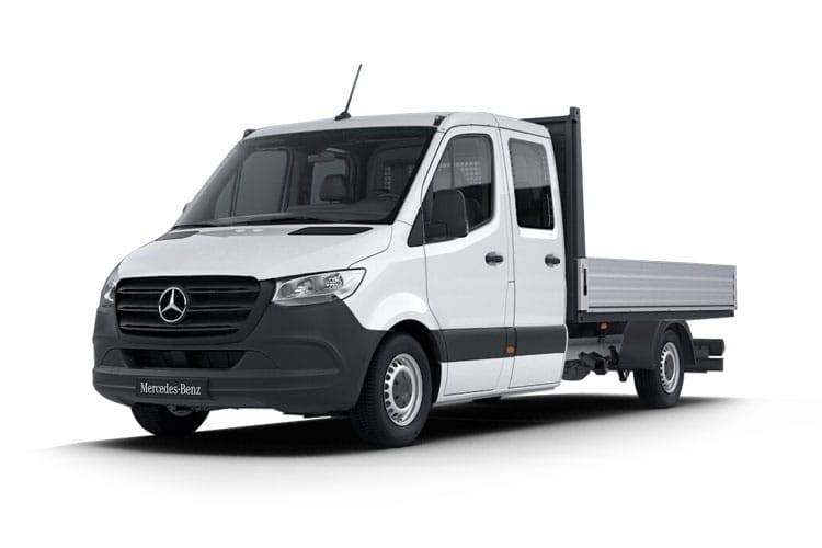 Mercedes-Benz Sprinter HGV 516 L2 5.0t 2.1 CDi DRW 163PS  Dropside Double Cab Manual [Start Stop] front view